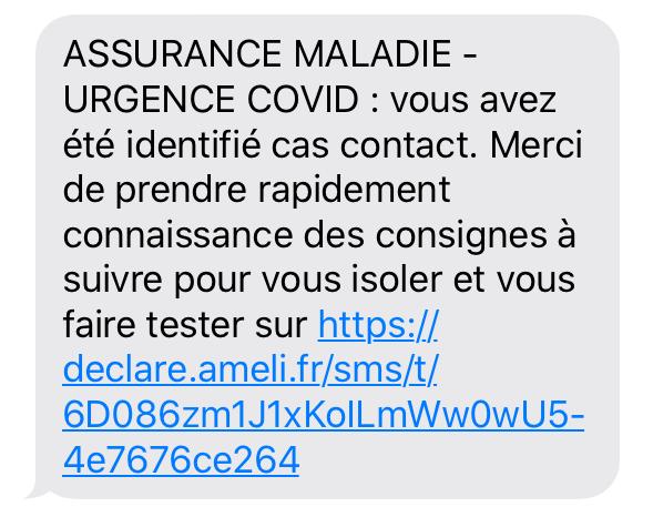 Message cas contact